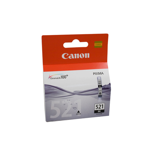 Canon Genuine CLI-521BK Black Ink Tank - Black