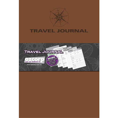 Ozcorp Travel Journal Soft Cover A5 - Tan