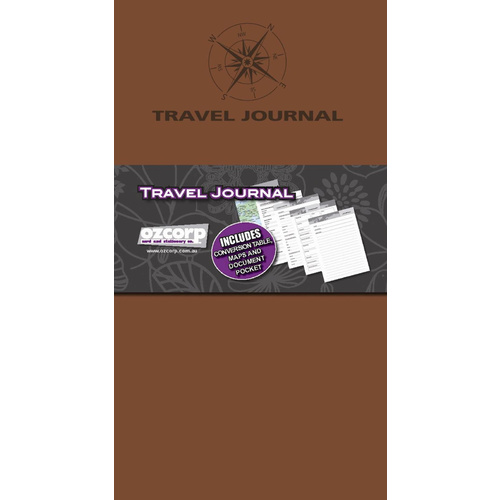 Ozcorp Slim Travel Journal Soft Cover - Tan