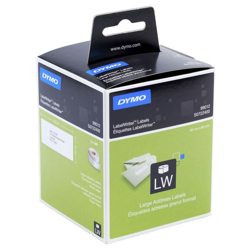 Dymo Labelwriter 36 X 89mm Add 2 Roll White