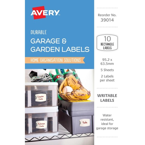 Avery 39014 Labels Eclectic Collection Garage & Outdoor Rectangle Labels 10 Per Pack