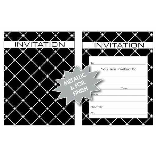 Ozcorp Invitation Pad 25 Sheets 145x195mm -  Argyle Design