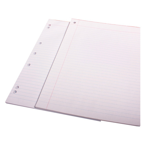 Olympic A4 Office Pads Bank Ruled White 7 Hole - 10 Pack