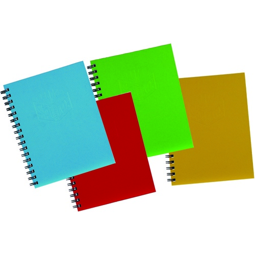 Spirax 511 A5 Hardcover Side Opening Notebook 4 Pack - Assorted Colours