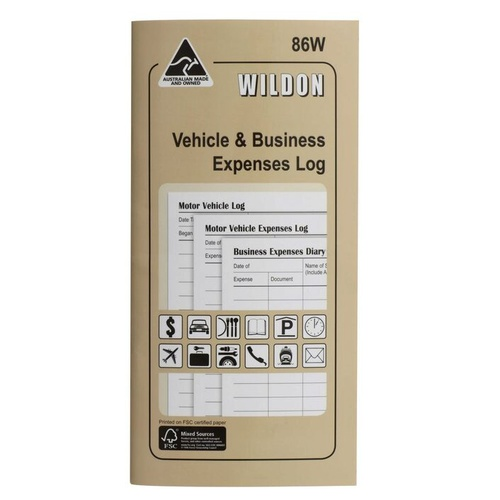 Wildon 86W Vehicle and Business Expenses Log