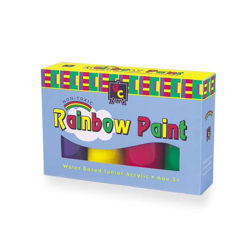 EC Educational Colours Paint Set Rainbow 4 x 100ml