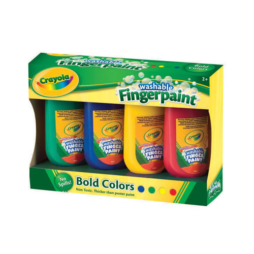 Crayola My First Washable Finger Paint Assorted Colours 4 Pack
