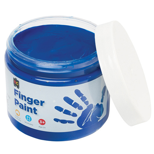 EC Paint Finger Paint Washable Non Toxic Non Staining 500ml - Blue