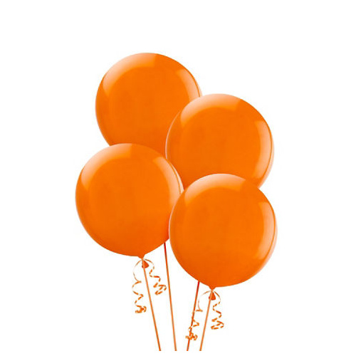 Alpen 25cm Round Balloons Pack 15  - Orange