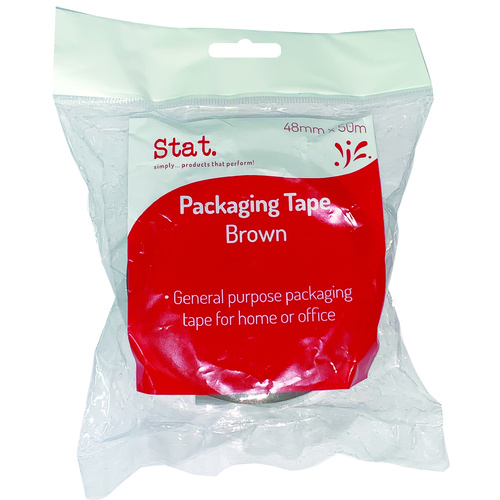 Stat Packaging Tape 48mm x 50m Brown