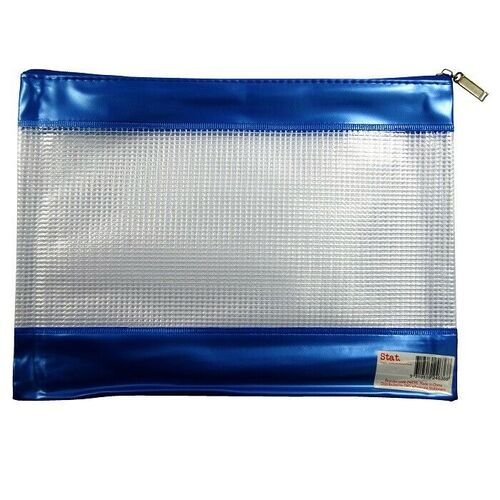 Sovereign Pencil Case PVC Mesh With Zip Large - Assorted Colours