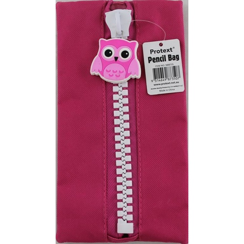 Protext Pencil Case 235x125mm Character - Magenta Owl