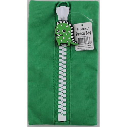 Protext Pencil Case 235x125mm Character - Green Monster