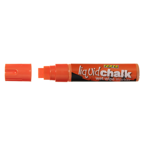 Texta Liquid Chalk Wet Wipe Glass, Chalkboard Marker Jumbo Tip -Orange