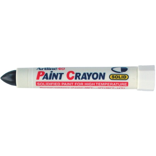 12 x Artline 40 Permanent Paint Crayon - Black