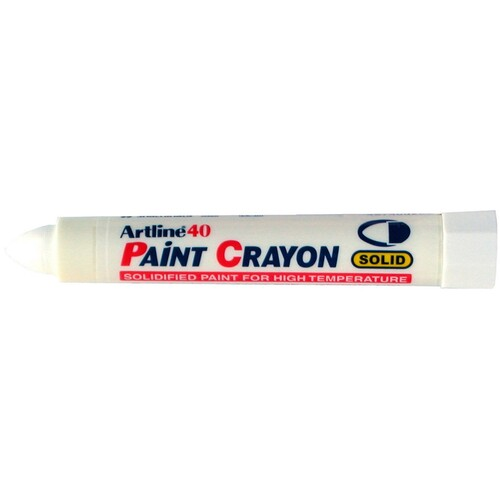 12 x Artline 40 Permanent Paint Crayon - White