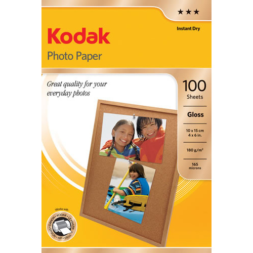 Kodak Photo Paper 4x6 Gloss 180gsm 100 Pack