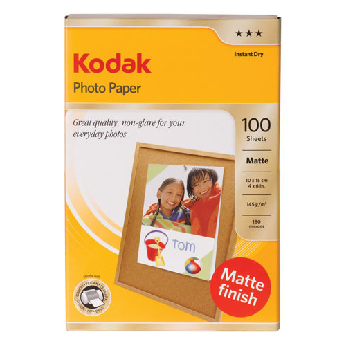 Kodak Photo Paper 4x6 Everyday Matte 145gsm 100 Pack