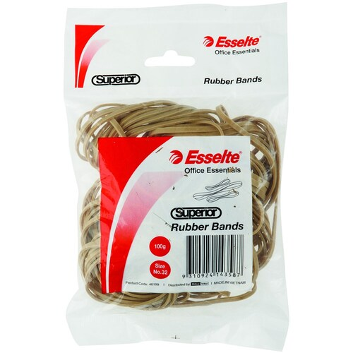 Esselte Bag No.32 Superior Rubber Bands 100gm