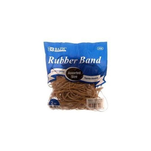 Bazic 56.7g Superior Rubber Bands - Assorted Sizes