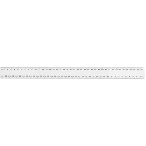 Marbig Clear Plastic Ruler 40cm
