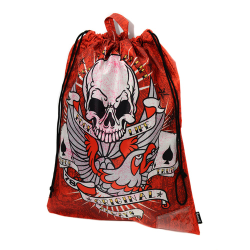 Spencil Drawstring Library Kids Bag - Tattoo