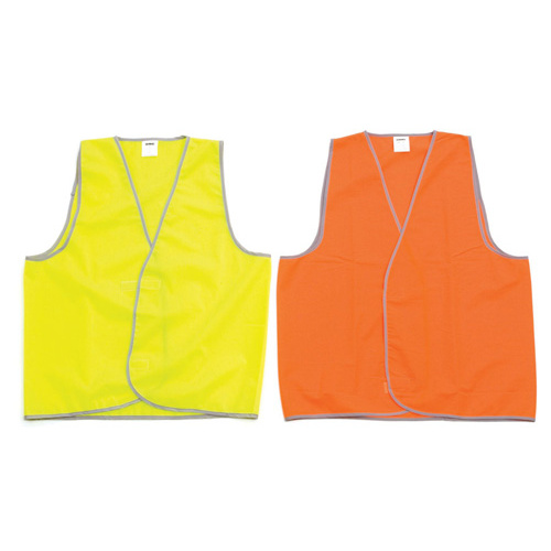 Zions Safety Vest Fluro Yellow Extra Large Day Use