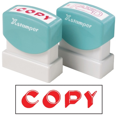 X-Stamper Self Inking Ink Stamp COPY RED Pre-Inked, Re-inkable Up To 100,000 Impressions - 1336