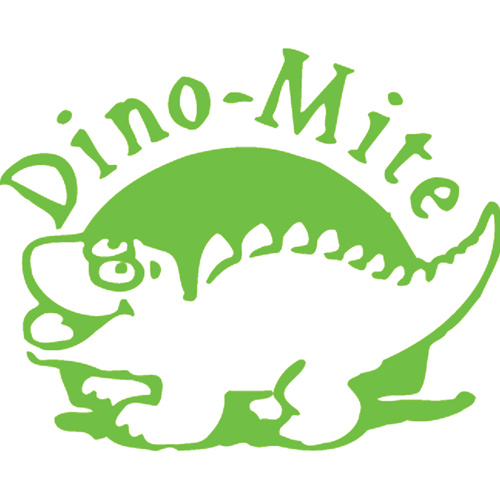 X-Stamper Self Inking Ink Stamp DINO MITE GREEN Pre-Inked, Re-inkable Up To 100,000 Impressions - 11437