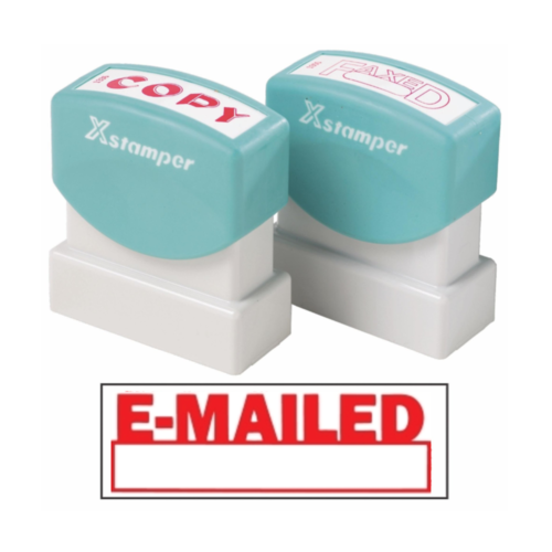 X-Stamper Self Inking Ink Stamp EMAIL WITH DATE Pre-Inked, Re-inkable Up To 100,000 Impressions - 1650