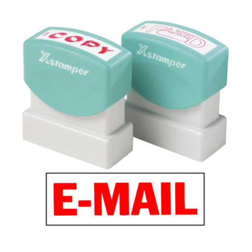 X-Stamper Self Inking Ink Stamp EMAIL Pre-Inked, Re-inkable Up To 100,000 Impressions - 1651
