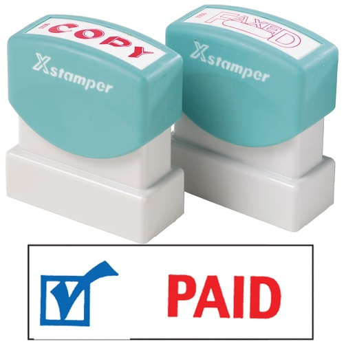 X-Stamper Self Inking Ink Stamp PAID WITH DATE Pre-Inked, Re-inkable Up To 100,000 Impressions  - 2024