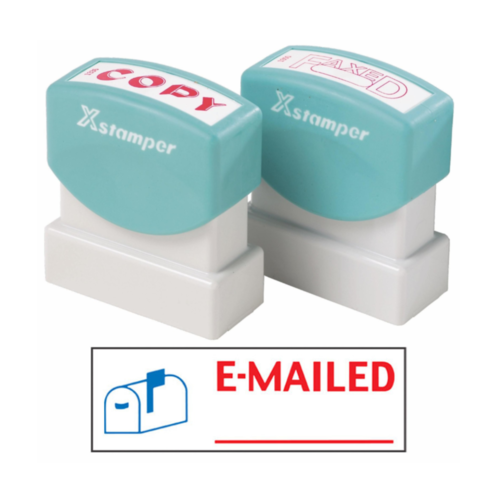 X Stamper Self Inking EMAILED WITH MAILBOX Icon Pre-Inked, Re-inkable Up To 100,000 Impressions - 2025