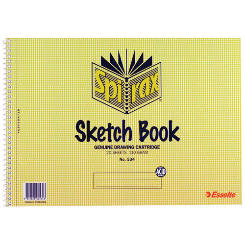 Spirax Sketch Book 534 A4 - 40 Pages - 10 Pack