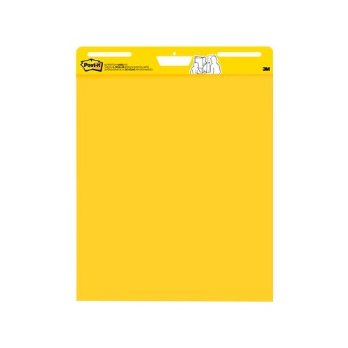 3M Post- It Easel Note Pad Super Sticky 760 x 630mm Plain Bright Yellow - 1 Pad