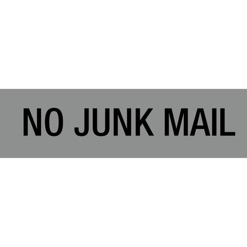 "Large Self Adhesive Sign ""NO JUNK MAIL"" - 5 Pack"