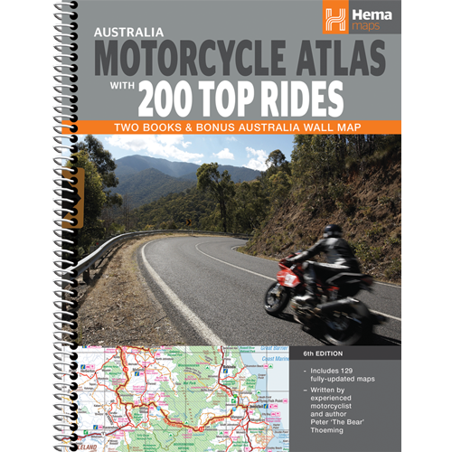 Atlas Hema Australian MotorCycle With 200 Top Rides