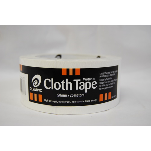 Olympic Wotan Cloth Tape 50mm X 25M - White
