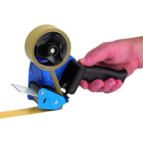 Marbig Packaging Tape Dispenser For 50mm Tapes With 76mm Core - Black & Blue