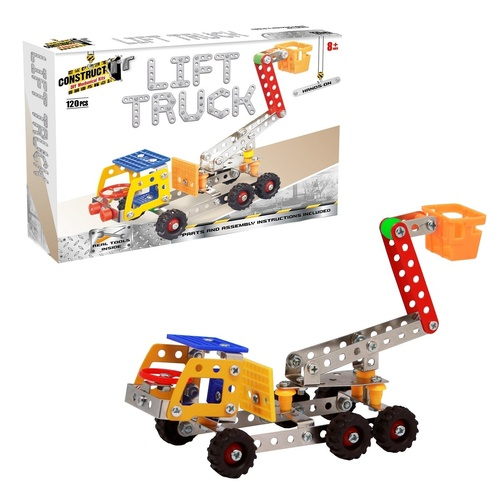 Construct It Lift Truck Toy Construction Trucks - 120 Pieces