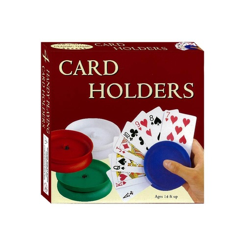 Classic Game Playing Card Holders - Set of 4 Round