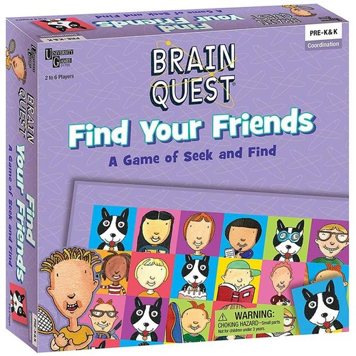 University Games Brain Quest - Find Your Friends Fun Family Board Game
