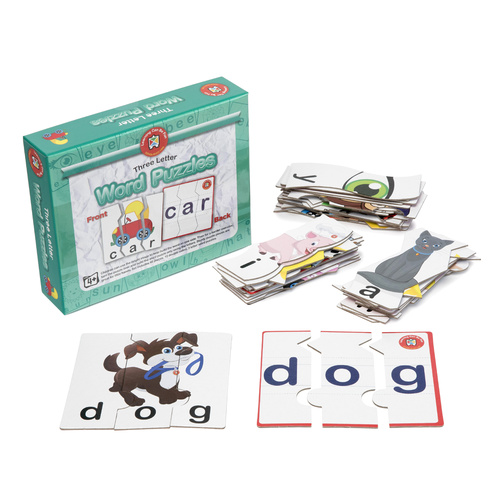 Learning Can Be Fun Kids Word Puzzles - 3 Letter Words
