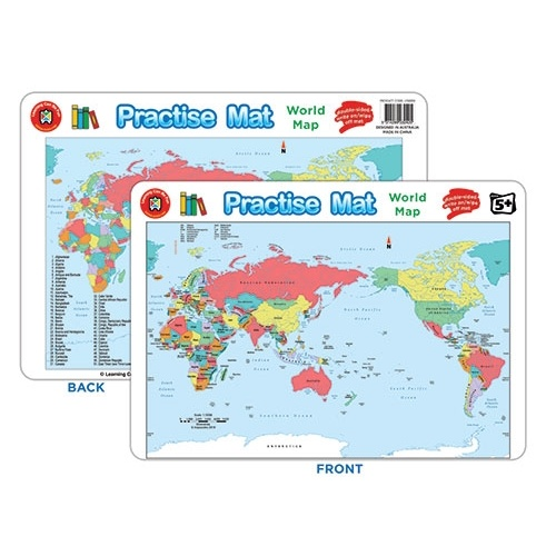 Learning Can Be Fun Practise Mat World Map