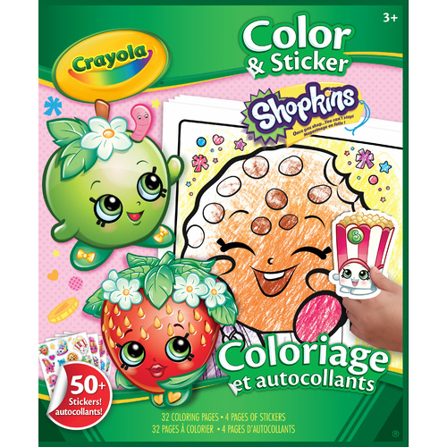 Crayola Colour & Sticker Book - Shopkins