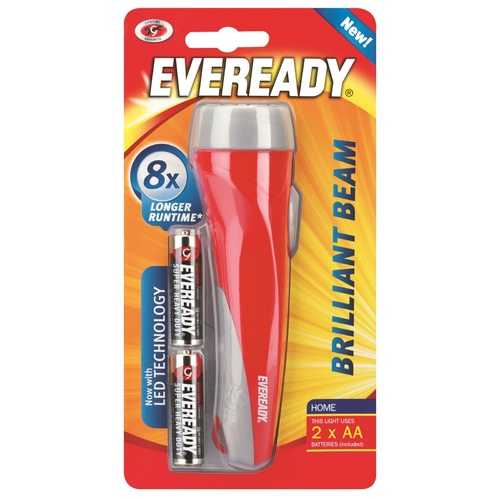 Eveready Brilliant Beam Torch Includes 2 X AA Batteries