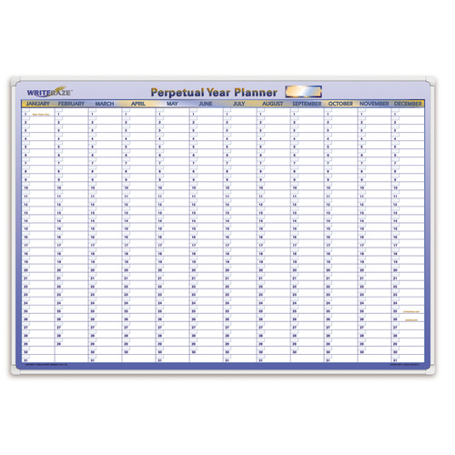 Collins Debden Writeraze Perpetual Year Planner 700 x 1000mm